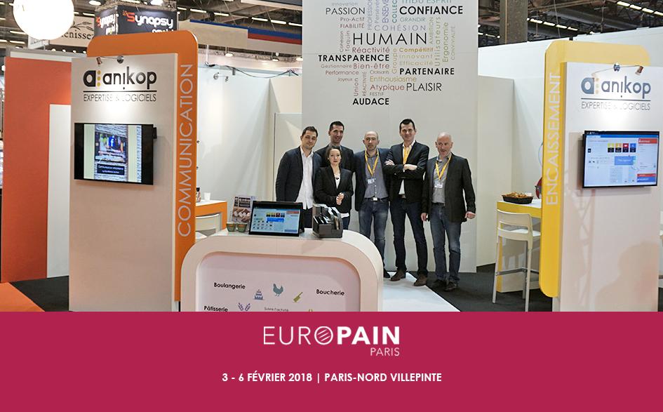 Retour participation Anikop Europain 2018