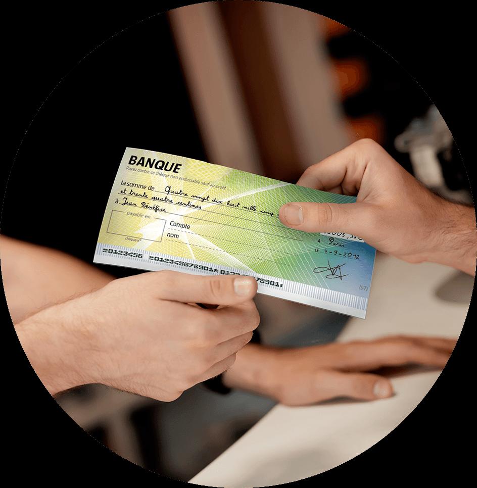 Paiement par chèque bancaire