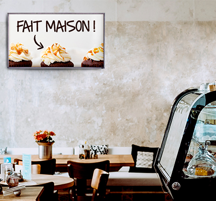 logiciel affichage dynamique - restaurant